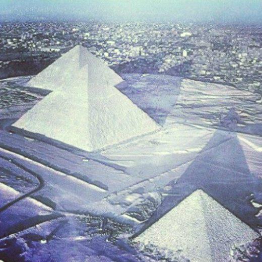 snow pyramid